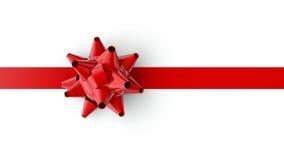 Arco y cinta rojos Fotos de archivo libres de regalías