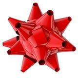 Arco y cinta rojos ilustración del vector