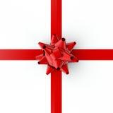 Arco y cinta rojos Foto de archivo libre de regalías