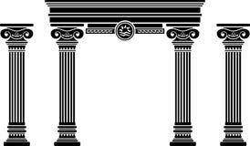 Arco y columnas de la fantasía ilustración del vector