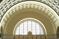 Arco y detalle históricos del techo de la estación de la unión fotografía de archivo libre de regalías