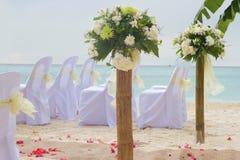 Arco y disposición de la boda Fotos de archivo libres de regalías