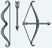 Arco y flecha Imágenes de archivo libres de regalías