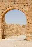 Arco y pared de piedra antiguos Fotografía de archivo