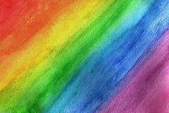 Arcobaleno in acquerello Fotografia Stock Libera da Diritti