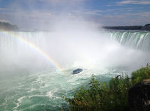 Arcobaleno alle cadute a ferro di cavallo, cascate del Niagara Immagine Stock Libera da Diritti