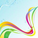 Arcobaleno astratto Wave Fotografie Stock Libere da Diritti