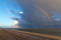 Arcobaleno in baia di Somme fotografie stock