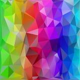 Arcobaleno basso astratto del fondo del paesaggio poli Fotografia Stock Libera da Diritti