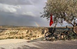 Arcobaleno in Cappadocia Fotografia Stock Libera da Diritti
