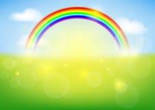 Arcobaleno contro il cielo Immagini Stock Libere da Diritti