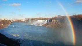 Arcobaleno dal cascate del Niagara Fotografia Stock Libera da Diritti