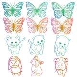 Arcobaleno degli animali Fotografie Stock