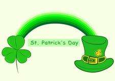 Arcobaleno del giorno di St Patrick Fotografia Stock Libera da Diritti