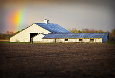 Arcobaleno del granaio fotografia stock libera da diritti