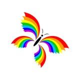 Arcobaleno della farfalla Fotografia Stock