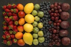 Arcobaleno della frutta Fotografia Stock Libera da Diritti