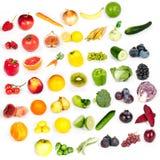 Arcobaleno della frutta e delle verdure Fotografie Stock