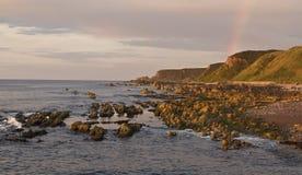 Arcobaleno della linea costiera Immagini Stock