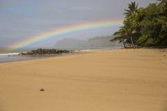 Arcobaleno della spiaggia Immagini Stock Libere da Diritti