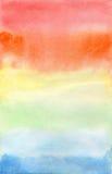 Arcobaleno di Aquarel su Libro Bianco Immagine Stock