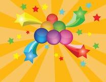 Arcobaleno di colore della sfera di cristallo della palla del marmo del fondo dei grafici Immagini Stock Libere da Diritti