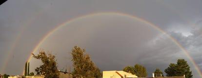 Arcobaleno di monsone dell'Arizona Immagini Stock Libere da Diritti