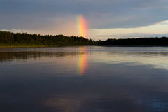 Arcobaleno di sera Fotografie Stock