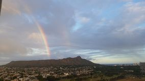 Arcobaleno in Diamondhead fotografie stock libere da diritti