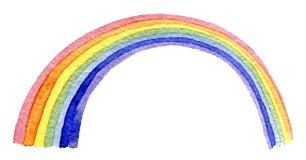 Arcobaleno disegnato a mano dell'acquerello illustrazione di stock