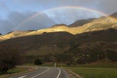 Arcobaleno in Glen Orchy Fotografia Stock