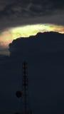 Arcobaleno Gray Cloud leggero Immagine Stock