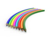 Arcobaleno insolito dalle matite Immagini Stock
