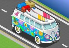 Arcobaleno isometrico Van in Front View Immagini Stock
