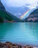 Arcobaleno, Lake Louise Immagini Stock