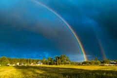 Arcobaleno nella tempesta Fotografia Stock Libera da Diritti