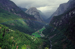 Arcobaleno in Norvegia Immagine Stock Libera da Diritti