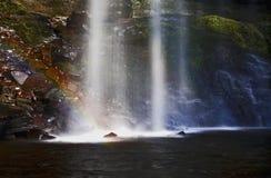 Arcobaleno preso in Sgwd Henrhyd; cascata del henrhyd Immagine Stock Libera da Diritti