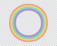 Arcobaleno rotondo su un fondo trasparente Un bello fenomeno naturale nel cielo Fotografia Stock Libera da Diritti