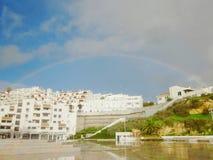 Arcobaleno sopra Albufeira 2 immagine stock libera da diritti