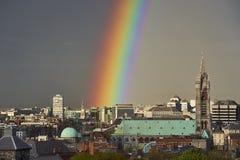 Arcobaleno sopra Dublino Fotografia Stock Libera da Diritti