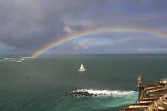 Arcobaleno sopra l'Atlantico Fotografia Stock Libera da Diritti