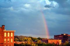 Arcobaleno sopra Lowell Fotografia Stock Libera da Diritti