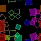 Arcobaleno sparso dei quadrati fotografie stock