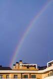 Arcobaleno su un cielo blu Immagini Stock Libere da Diritti