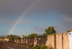 Arcobaleno sul cielo, Marocco Immagine Stock