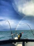 Arcobaleno un bello giorno di pesca Fotografia Stock Libera da Diritti