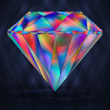 Arcobaleno variopinto Crystal Gemstone del segno royalty illustrazione gratis