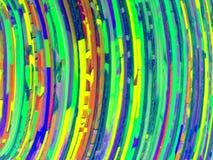 Arcobaleno variopinto delle linee di colore curve estratto Fotografia Stock