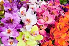Arcolorful de la flor artificial de la orquídea imágenes de archivo libres de regalías